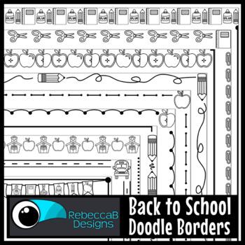 Back to School Borders Clip Art