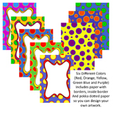 Borders: Big Bold Pokka Dotted Borders and Paper