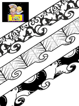 Borders - Black & white - Clipart