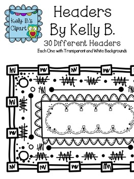 Borders Bundle: By Kelly B. Circles, Headers, and Page Dividers