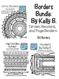 Borders Bundle {Clipart: By Kelly Benefield} Circles, Headers, and Page Dividers