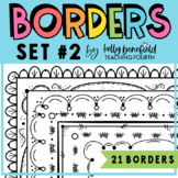 Borders: Doodle Borders Set 2 {Clipart by Kelly Benefield}