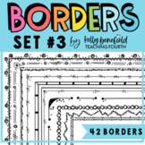 Borders Set #3 {Clip Art by Kelly Benefield}