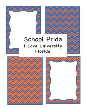 Borders: Chevron Borders for University Florida Orange and Blue