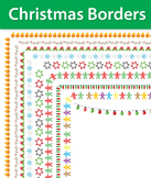 9 Christmas Borders and Frames, Doodle Borders, Doodle Frames, Christmas Frames