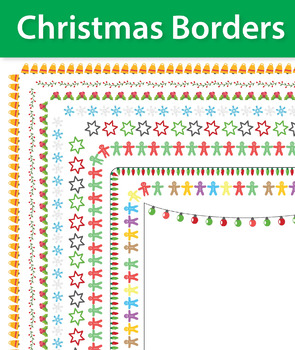 9 Christmas Borders and Frames, Doodle Borders, Doodle Fra