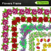 Borders Clip Art  Flowers Frames