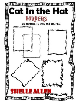 Borders Clip Art Writing Lady