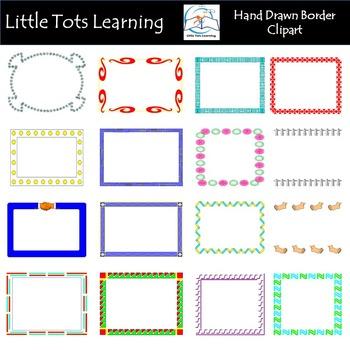 Borders Clip Art - Hand Drawn Border Clip Art - Starter Bundle
