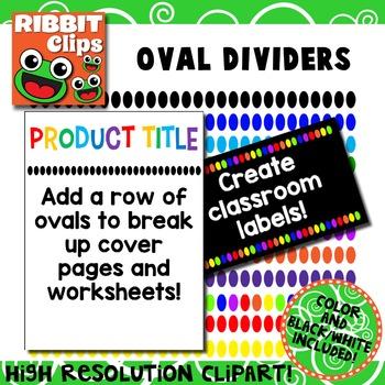 Borders- Oval Row Clipart