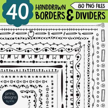 Borders Clipart • Worksheet Borders, Frames & Dividers • P