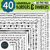 Borders Clipart • Worksheet Borders, Frames & Dividers • Print Designs by Kris