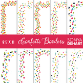 Clip Art: Borders - Confetti Page and Cover Borders