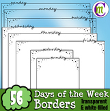 Borders | Days of the Week