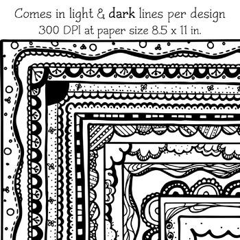 Borders - Doodle Clip Art 03