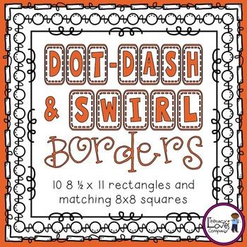 Square Borders {Dot-Dash & Swirl}