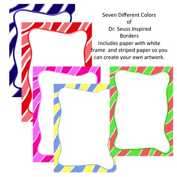 Borders Dr Seuss Who Ville Inspired Paper And Frames By Izzy Loves