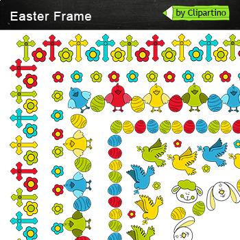 Borders Easter Frame Clip Art by Clipartino | Teachers Pay Teachers