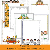 Borders FALL THEMES BORDERS & STATIONERY (Karen's Kids Clip Art)