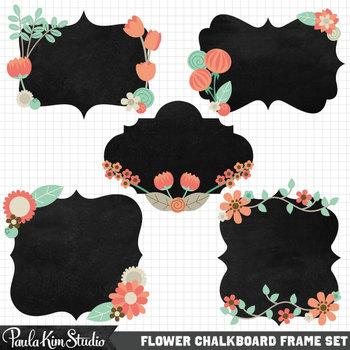 Borders - Floral Chalkboard