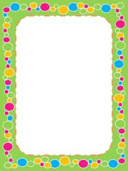 Borders / Frames 11 Pastel Dot Borders