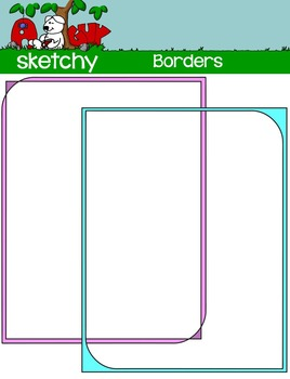 Borders / Frames - Color, Gray scale, and Blacklined