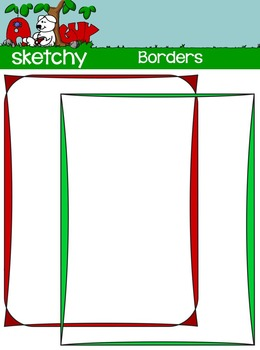 Borders / Frames - Color, Grayscale, and Black Lined