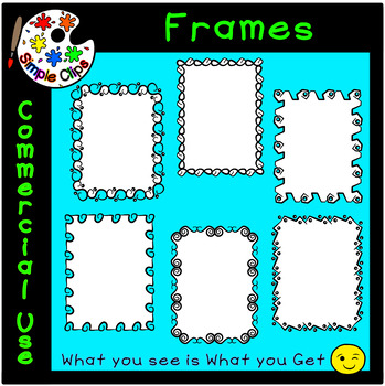 Borders & Frames - Fancy Set 1 -  Commercial Use {Simple Clips}