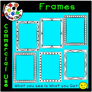 Borders & Frames - Fancy Set 2 -  Commercial Use {Simple Clips}