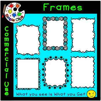 Borders & Frames - Fancy Set 5 -  Commercial Use {Simple Clips}
