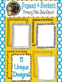 Borders & Frames {Primary Polka Dots Clip Art}