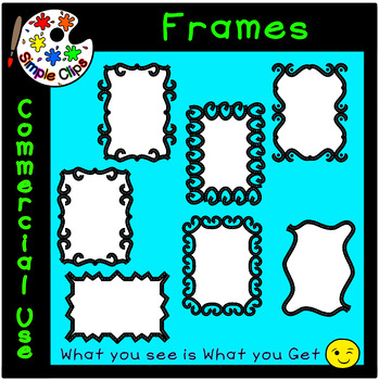 Borders & Frames - Road Outline Set 2 -  Commercial Use {Simple Clips}