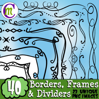 Borders Frames and Dividers Clip Art  CM