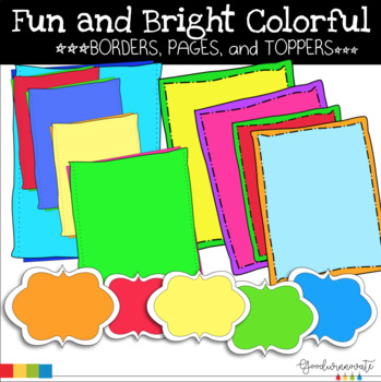 50f1ddde3bc7 Borders Bright Colors Worksheets   Teaching Resources