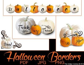 Pumpkin - Border Frames - Halloween