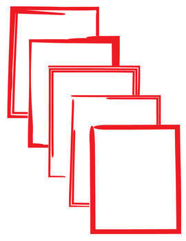 Borders: Hand-Drawn, Grunge--Pack #1