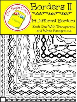 Artistic Borders II Thin Black Line - Creative and Decorative