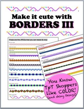 Borders III - Make it cute!
