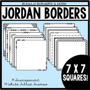Borders- Jordan Frames 7 x 7 Squares for Commerical Use