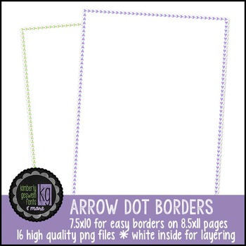 Borders: KG Arrow Dot Borders