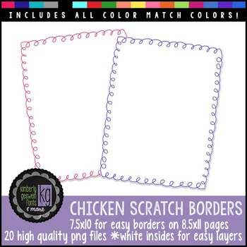 Borders: KG Chicken Scratch Borders