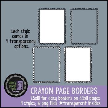 Borders: KG Crayon Borders
