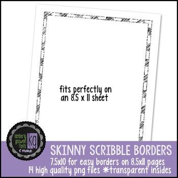 Borders: KG Skinny Scribble Borders