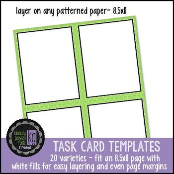 Borders: KG Task Card Templates