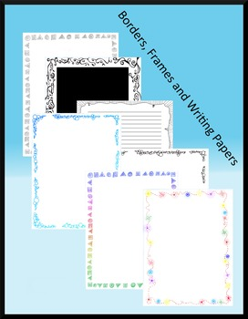 Borders, Lined Writing Papers and Blank Decor Paper B&W and Color