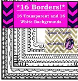 Borders MEGA Pack-Scrapbook Doodle Borders {Confetti and C