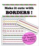 Borders - Make it cute! - Add color w/o killing a whole ink cartridge