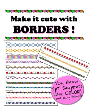 Borders - Make it cute! - Add color w/o killing a whole ink cartridge