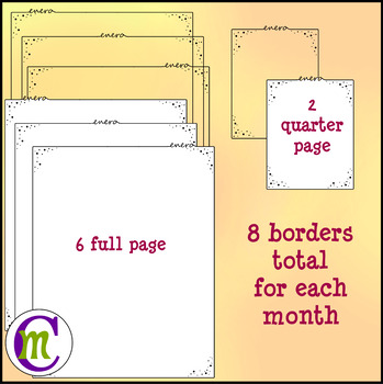 Borders | Months of the Year Spanish