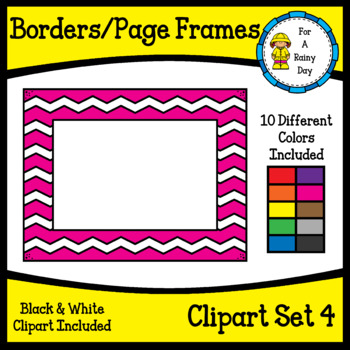 Borders/Page Frames Clipart Set 4 (sized 8.5 x 11)